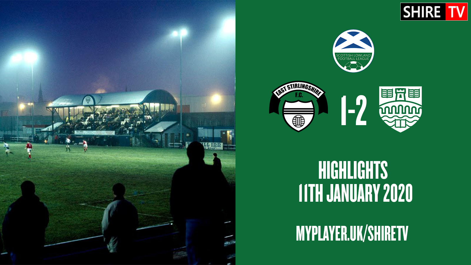 East Stirlingshire V University of Stirling (Lowland League 11th January 2020)